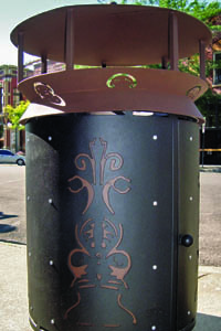 Downtown Trash Receptacle